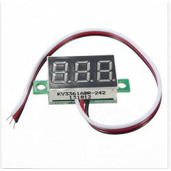 MINI DC 0-32V 3-Digital LED Display Voltmeter