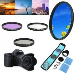 Kit Filtro Polarizador 52 mm - UV+FLD+CPL+Pára Sol para Nikon