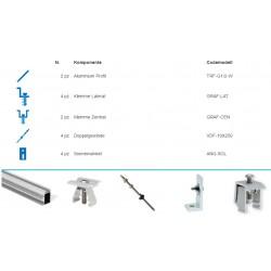 Kit fixação solar 80/100/130/150W 2 paineis