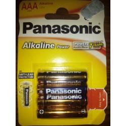 Panasonic Alkaline AAA LR03 1,5V