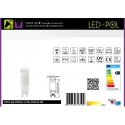 Lâmpada G9 LED 230V 2.5W 3000K 200lm - Led-Pol ORO-G9-PINGU-2,5W-200LM-BC