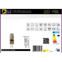 Lâmpada G4 LED 12V 1.5W 6500K 100lm silicone - LED-POL ORO-G4-OLI-1,5W-BZ