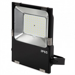 Projetor Led Slimline Lumileds LED 3030  60W 7200Lm IP65 50000H Ajustável