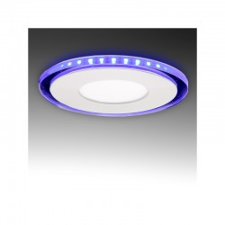 LED Downlight Circular Com Vidro Duo (White/Azul) Ø130Mm 10W 800Lm 30.000H
