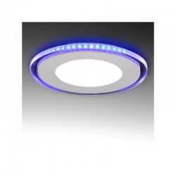 LED Downlight Circular Com Vidro Duo (White/Azul) Ø160Mm 15W 1200Lm 30.000H