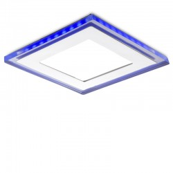LED Downlight Quadrado Com Vidro Duo (White/ Azul) 160X160Mm 15W 1200Lm 30.000H