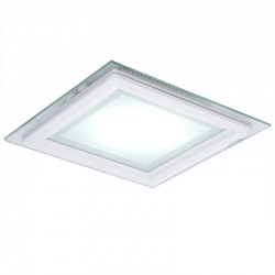 LED Downlight Quadrado LED Com Vidro 200X200Mm 18W 1500Lm 30.000H