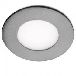 LED Downlight Slimline CircularQuadro, ArmaçãoPrata 90Mm 3W 230Lm 30.000H