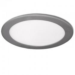 LED Downlight Slimline Circular  240Mm 20W 1860Lm 30.000HPrata