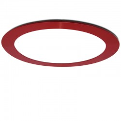 LED Downlight Slimline CircularQuadro, ArmaçãoVermelho 225Mm 18W 1380Lm 30.000H