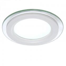 LED Downlight Circular Com Vidro Ø95Mm 6W 450Lm 30.000H GR-MB01-6W-O-CW