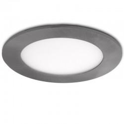 LED Downlight Slimline Circular Ø120Mm 6W 480Lm 50.000H Cetim de Níquel