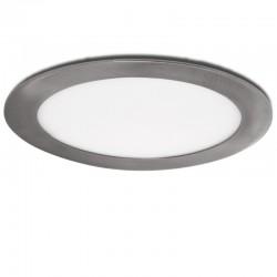LED Downlight Slimline Circular Ø225Mm 18W 1300Lm 50.000H Cetim de Níquel