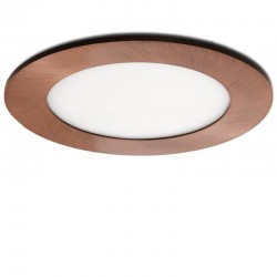 LED Downlight Slimline Circular Ø120Mm 6W 480Lm 50.000HBronze