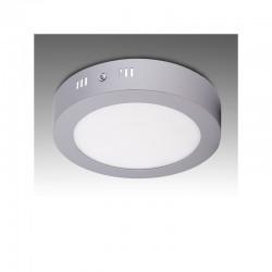 Luz de Teto LED Circular Cromado Ø169Mm 12W 930Lm 30.000H