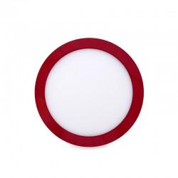Luz de Teto LED Circular Montagem Em Superfície Ø215Mm 18W 1450Lm 30.000HVermelho
