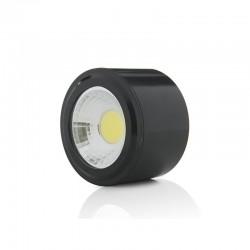 Downlight Montado Em Superfície LED COB CircularPreto Ø68Mm 5W 450Lm 30.000H