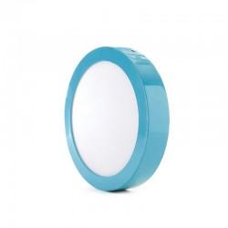 Luz de Teto LED Circular Montagem Em Superfície Ø220Mm 18W 1450Lm 30.000H Azul
