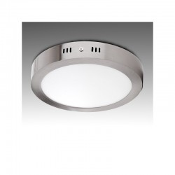 Luz de Teto LED Circular Ø225Mm 18W 1300Lm 50.000H Cetim de Níquel