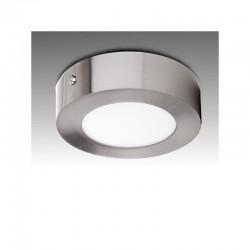 Luz de Teto LED Circular Ø120Mm 6W 430Lm 50.000H Cetim de Níquel