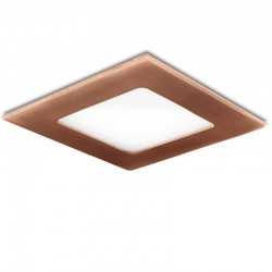 LED Downlight Slimline Quadrado 120X120 Mm 6W 480Lm 50.000H Bronze
