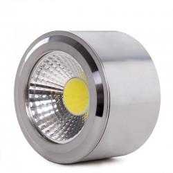 Downlight Montado Em Superfície LED COB Circular Cetim de Níquel Ø68Mm 5W 450Lm 30.000H