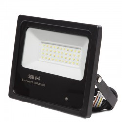 Refletor Led Floodlight IP65 Detector De Movimento Integrado 30W 30.000H
