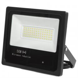 Refletor Led Floodlight IP65 Detector De Movimento Integrado 50W 30.000H